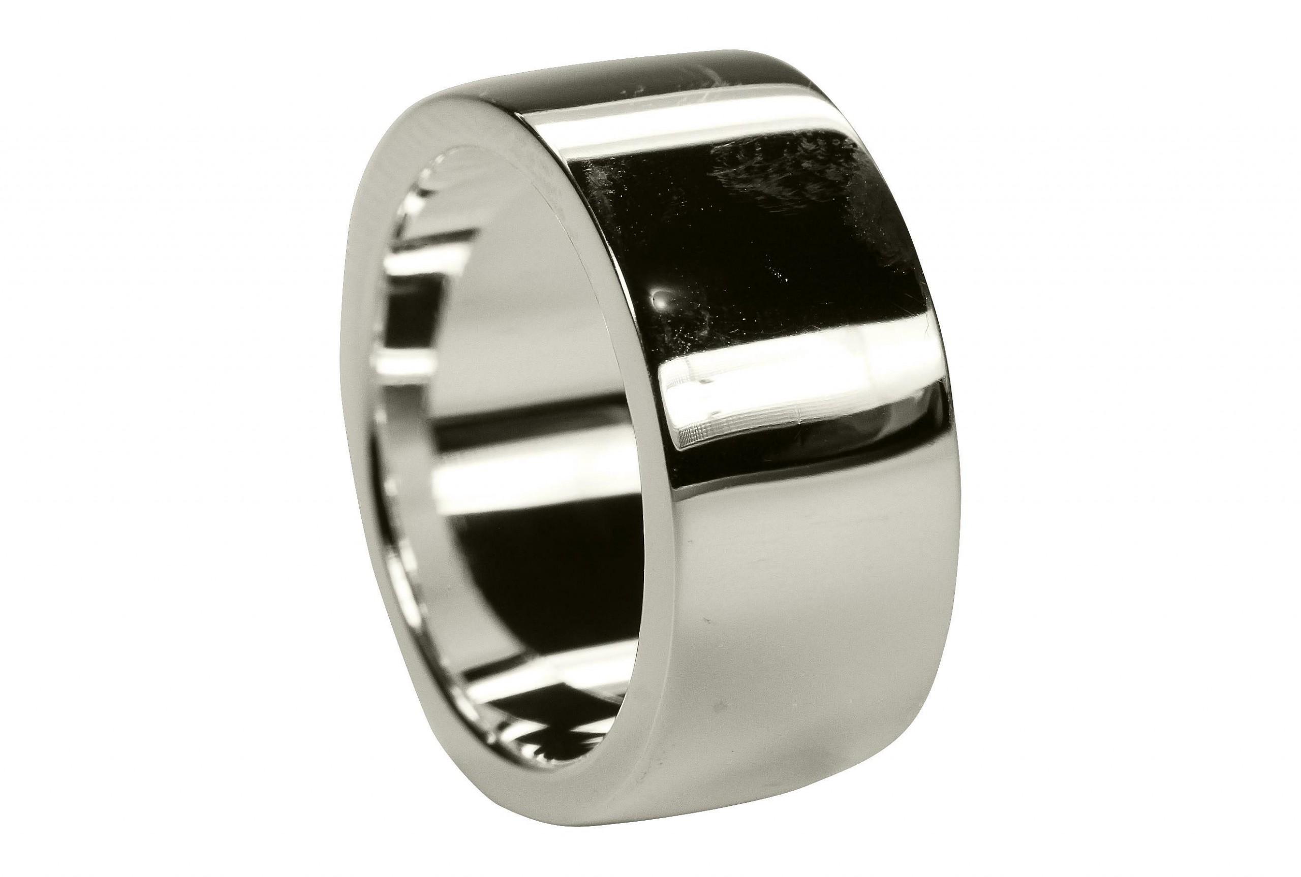 ... Partnerring Ehering glänzend Bandring Massiv Sterling Silber 925