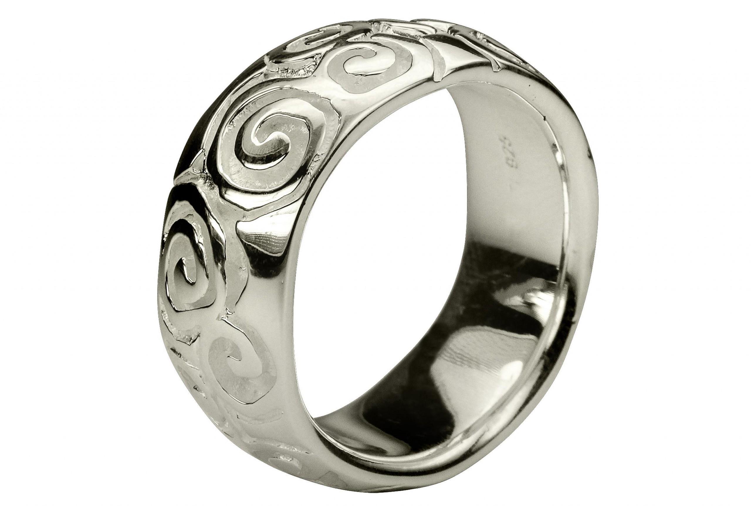 silbermoos damen ring spiral muster einkerbung bandring. Black Bedroom Furniture Sets. Home Design Ideas