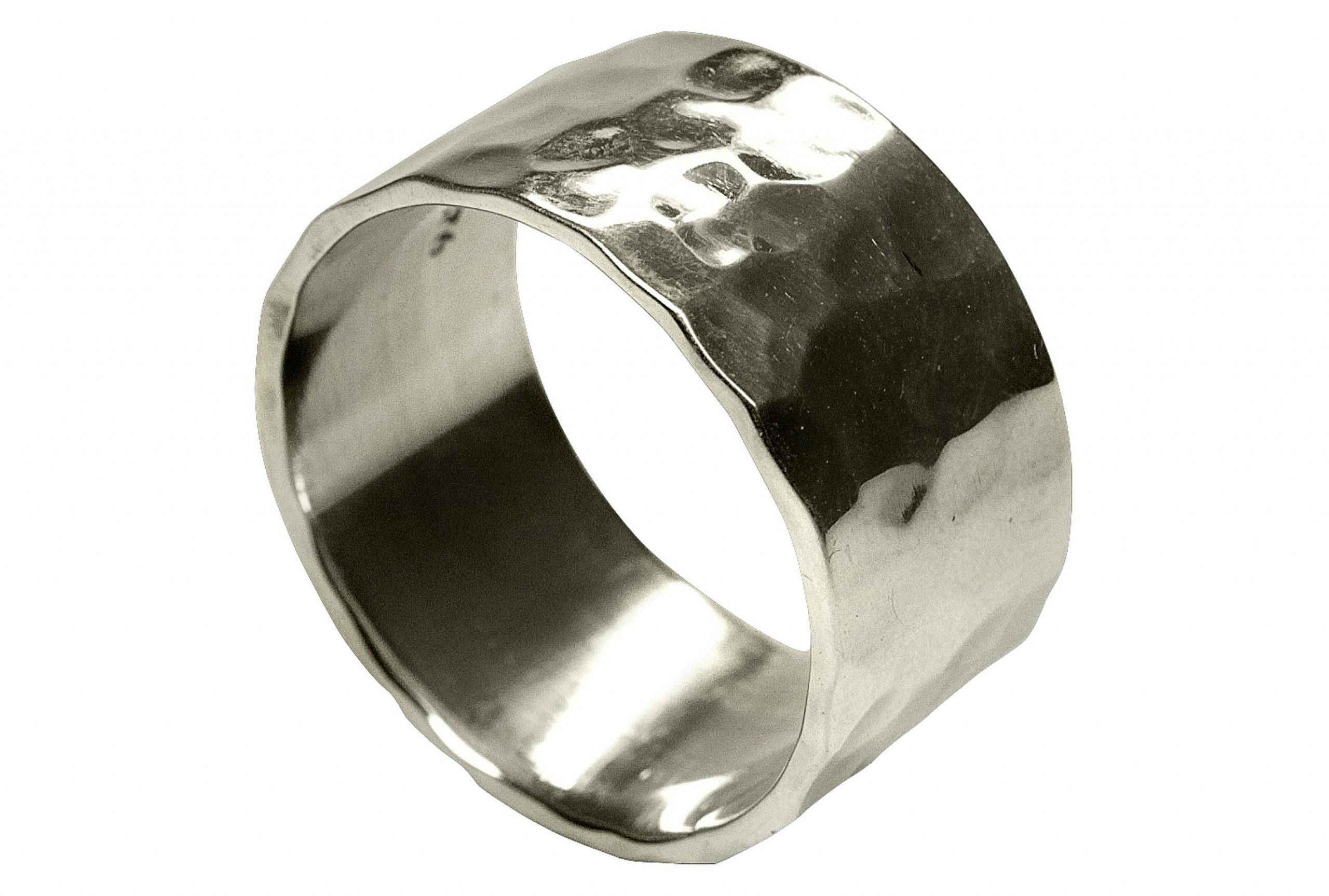 SILBERMOOS Ring Damen Herren Partner Ring Bandring glänzend