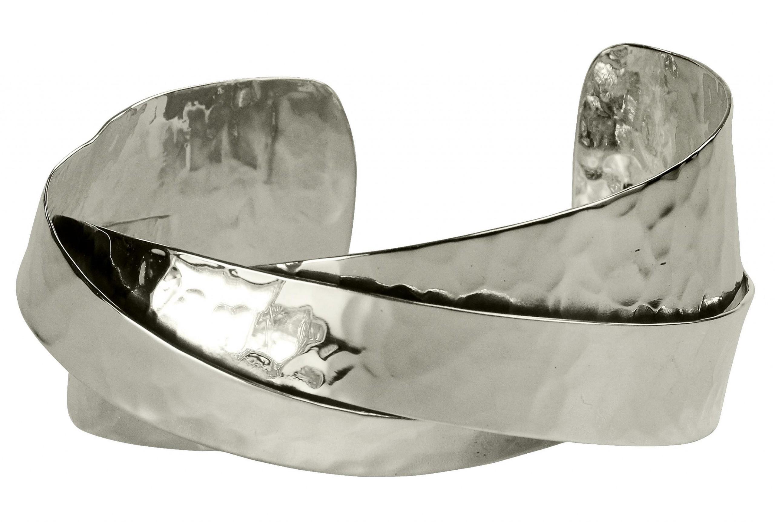 silbermoos damen armreif armspange berlappend gl nzend. Black Bedroom Furniture Sets. Home Design Ideas