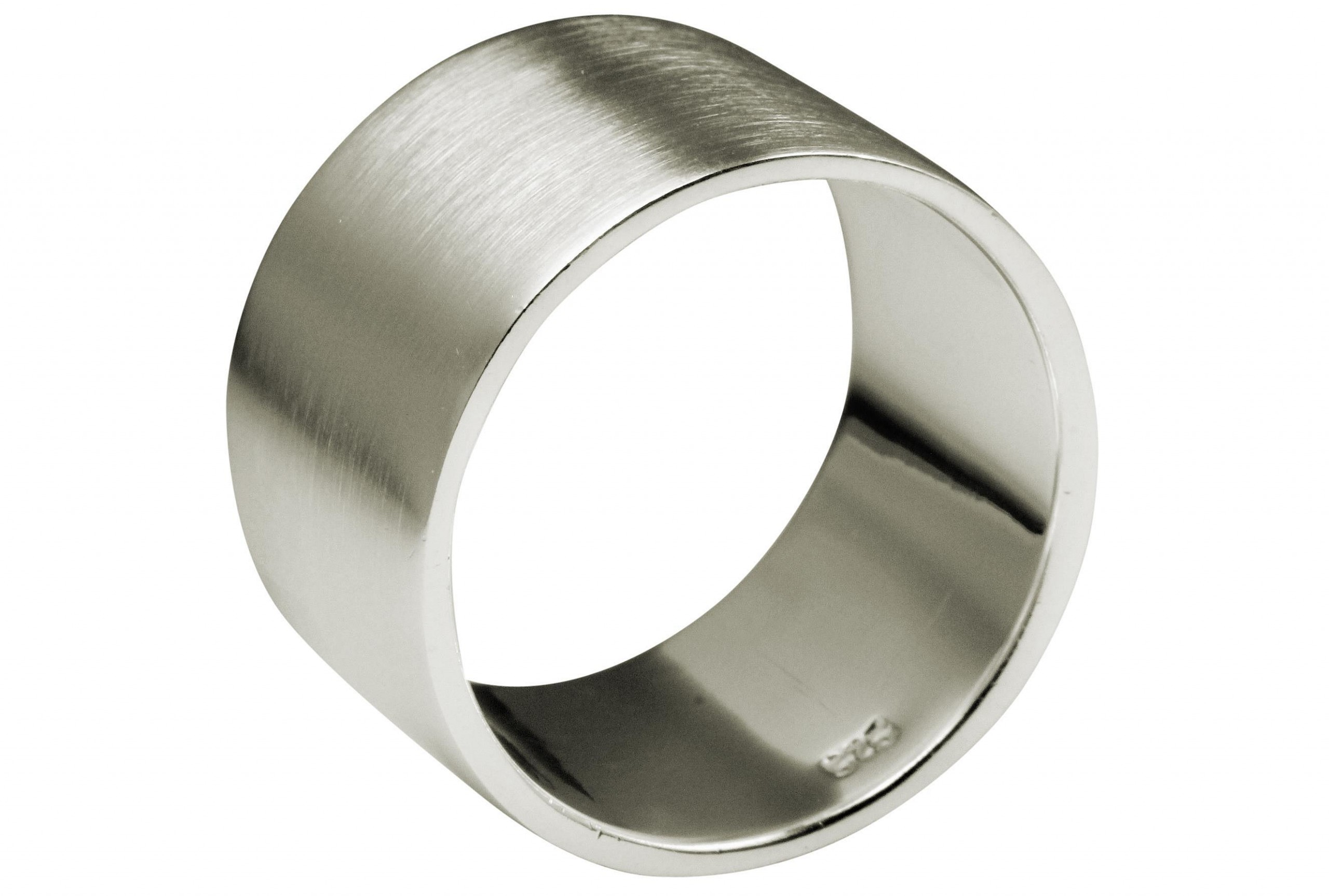 SILBERMOOS XL XXL Ringe in großen Größen Damen und Herren Bandring