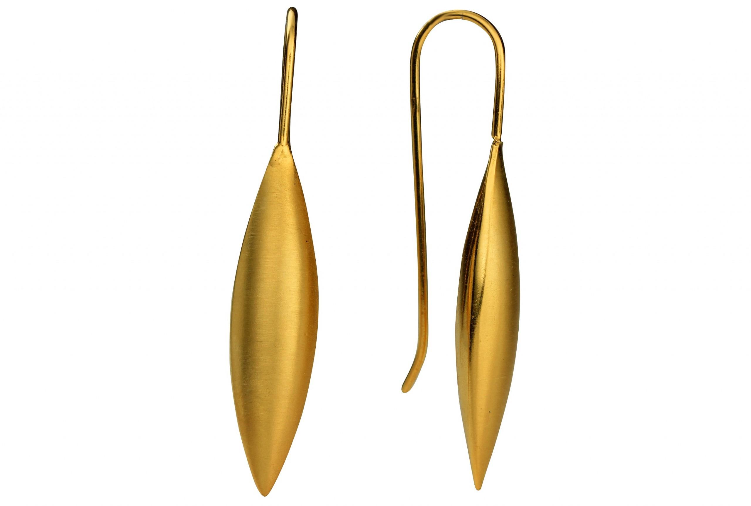 silbermoos damen ohrh nger gold plattiert gro tropfen. Black Bedroom Furniture Sets. Home Design Ideas